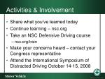 activities involvement