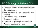 nsc strategy to address data