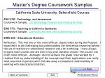 master s degree coursework samples11