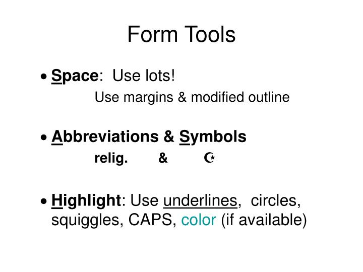 Form Tools