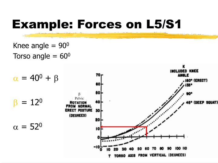 Example: Forces on L5/S1