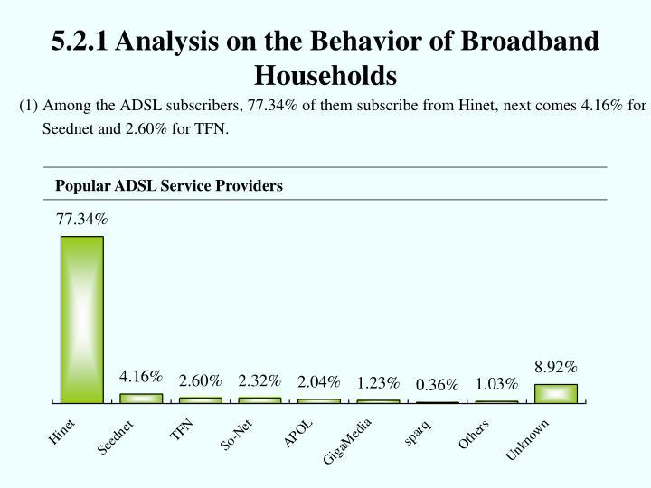 5.2.1 Analysis on the Behavior of Broadband Households