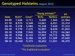 genotyped holsteins august 2010