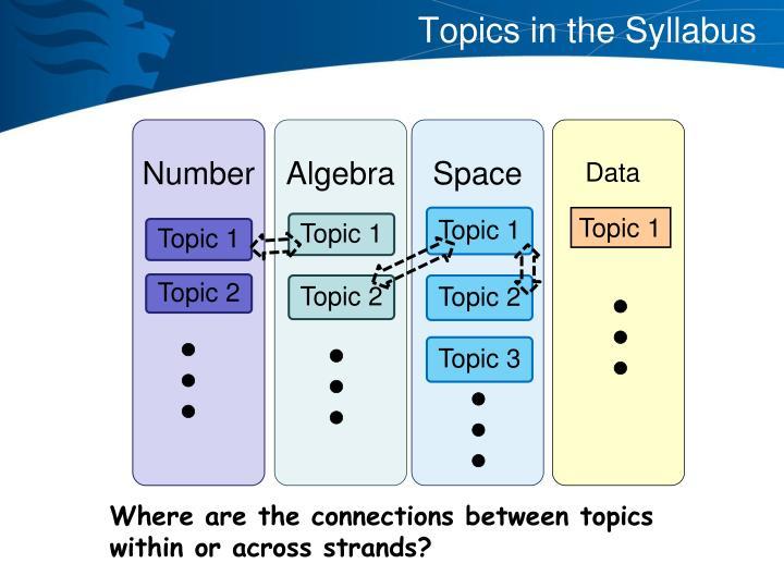 Topics in the Syllabus