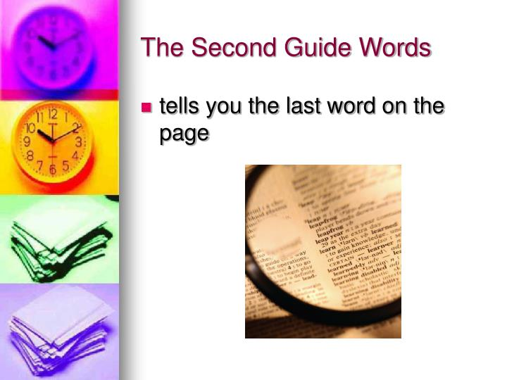 The Second Guide Words