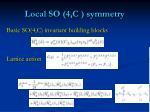 local so 4 c symmetry