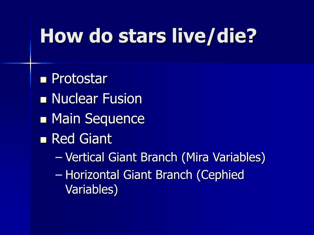 How do stars live/die?