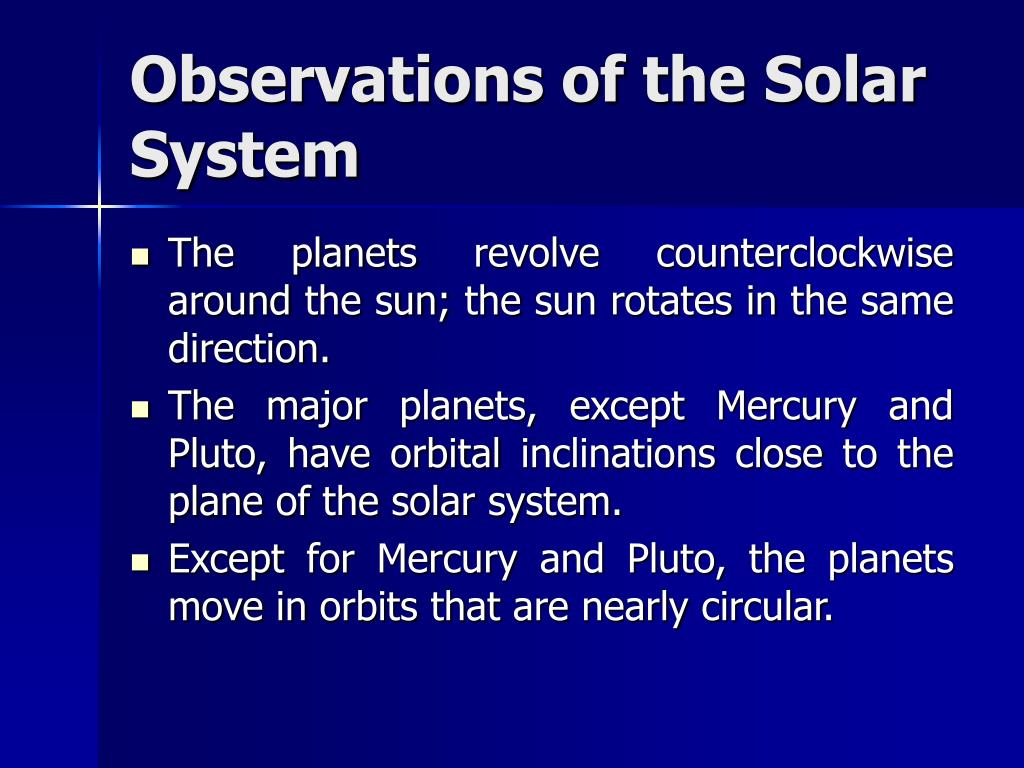 Observations of the Solar System