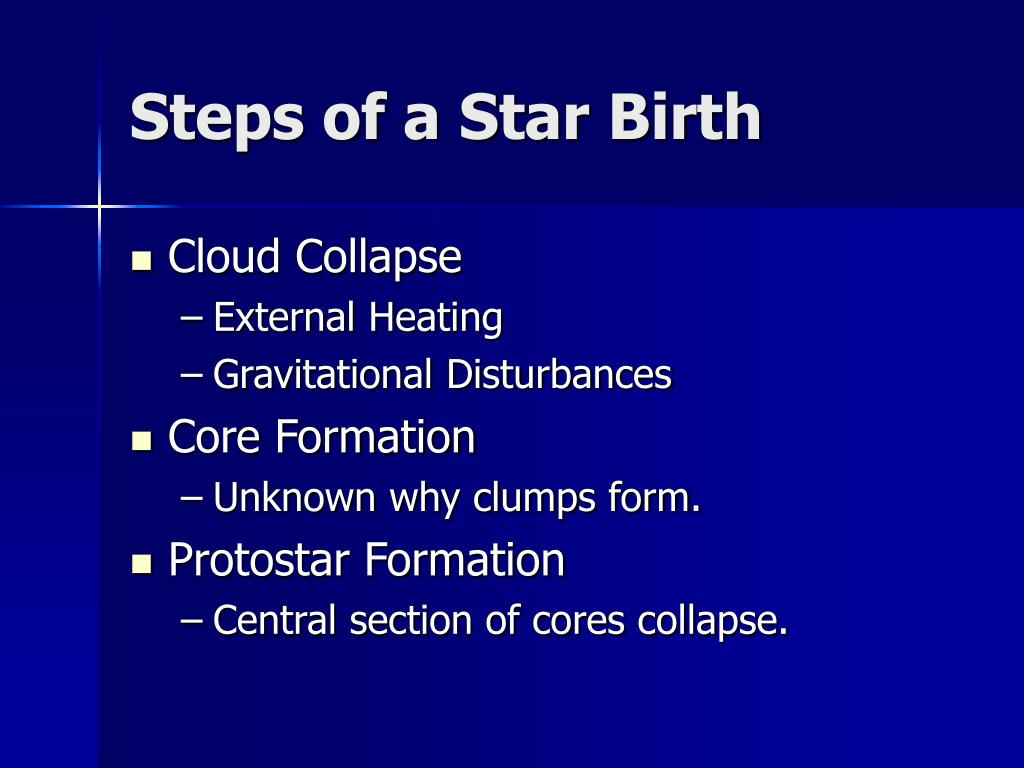 Steps of a Star Birth