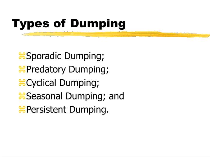 Types of dumping