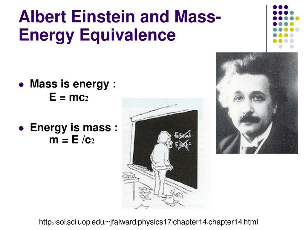 Albert Einstein and Mass-Energy Equivalence