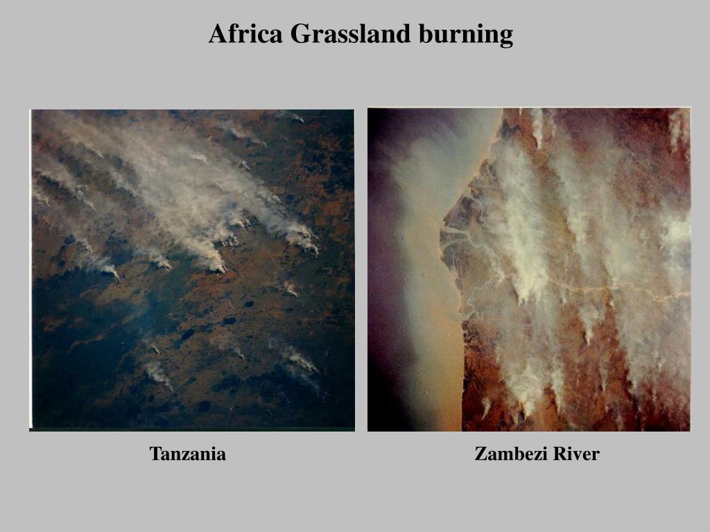 Africa Grassland burning