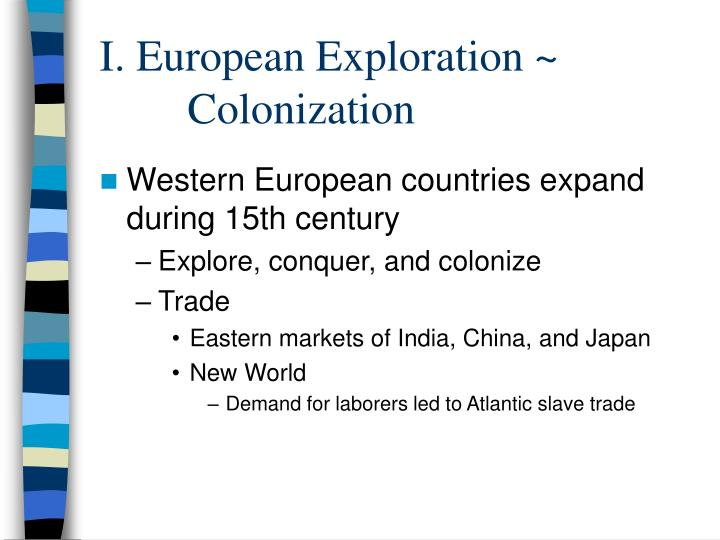european exploration of the new world essay Start studying unit i: exploration and colonization (essay questions) learn vocabulary, terms • the european colonization of the new world.