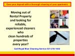 save your deposit with a thorough cleaning of your apartment