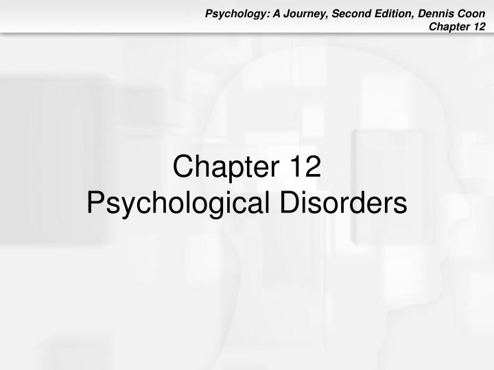 chapter 12 psychological disorders n.