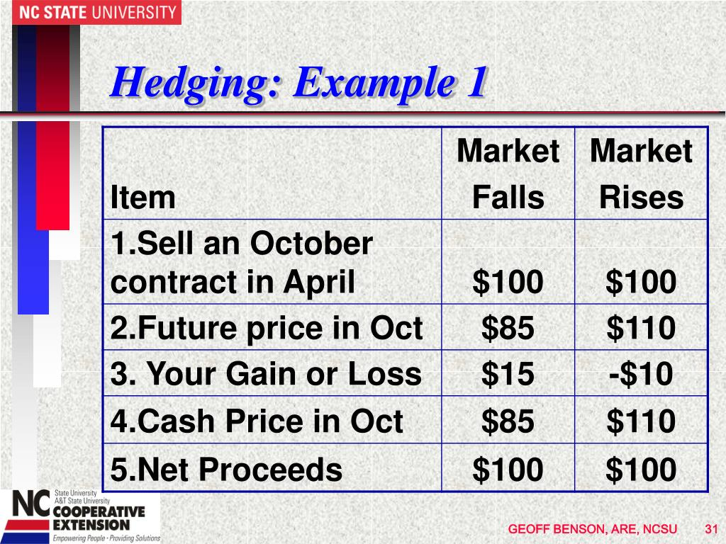 Hedging: Example 1