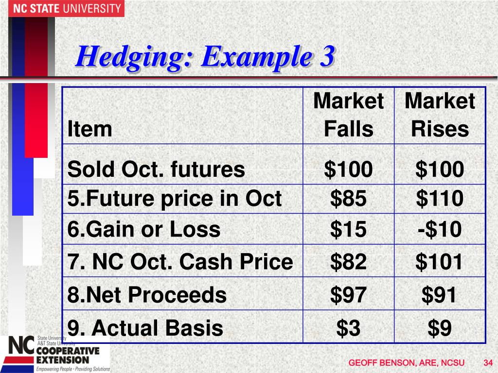 Hedging: Example 3