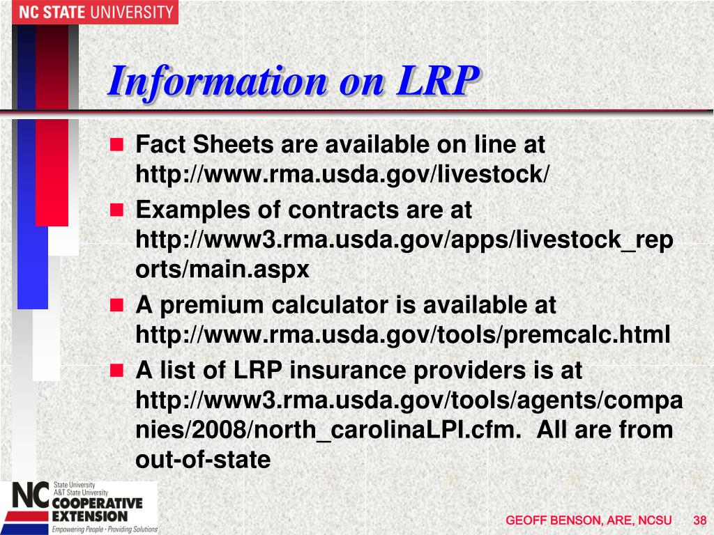 Information on LRP