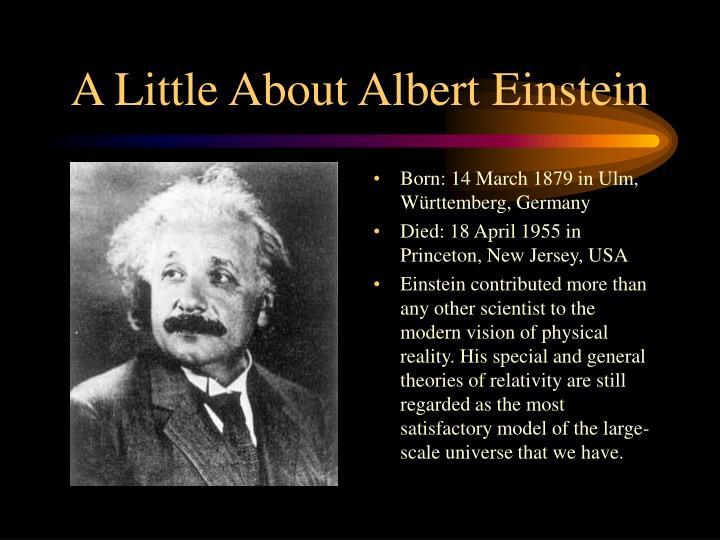 A little about albert einstein