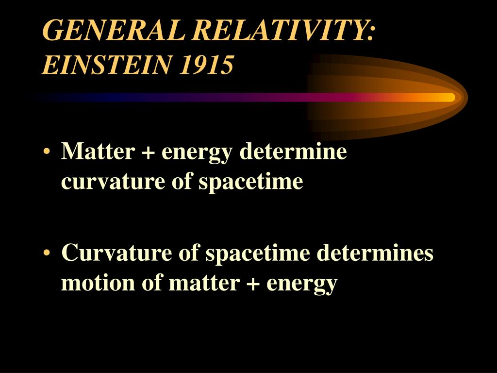 GENERAL RELATIVITY: