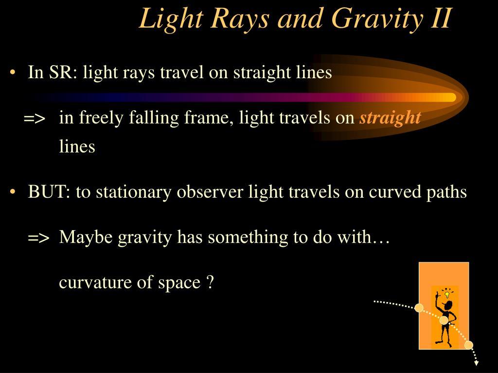 Light Rays and Gravity II