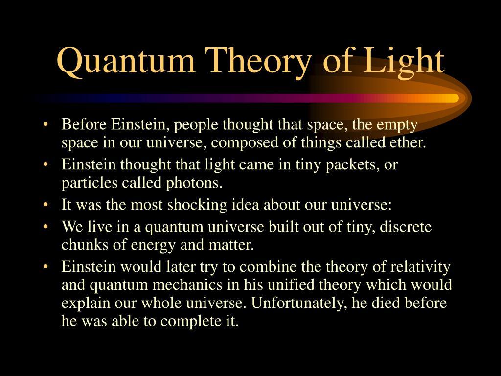 Quantum Theory of Light