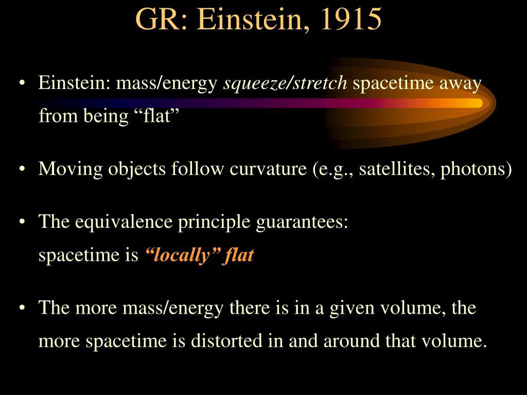 GR: Einstein, 1915