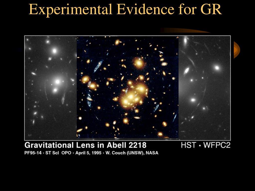 Experimental Evidence for GR