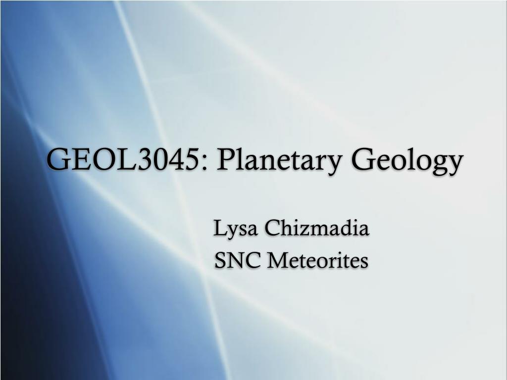 geol3045 planetary geology l.