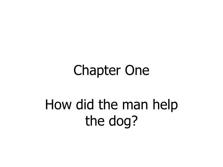 chapter one n.