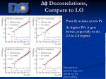 df decorrelations compare to lo19