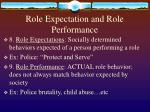 role expectation and role performance
