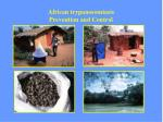african trypanosomiasis prevention and control