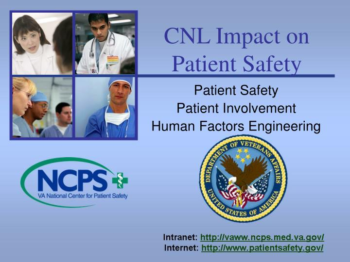 cnl impact on patient safety n.