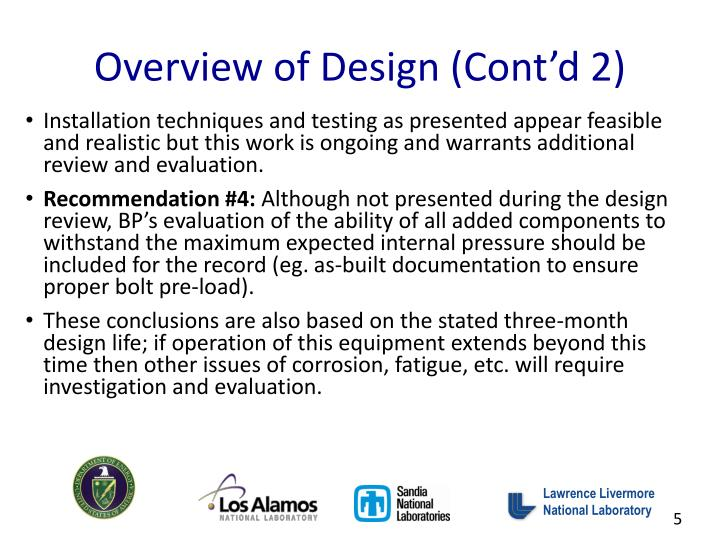 Overview of Design (Cont'd 2)