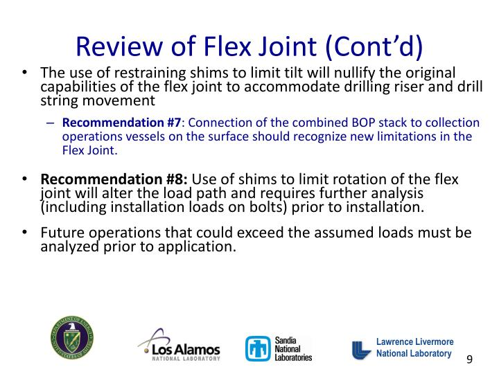 Review of Flex Joint (Cont'd)