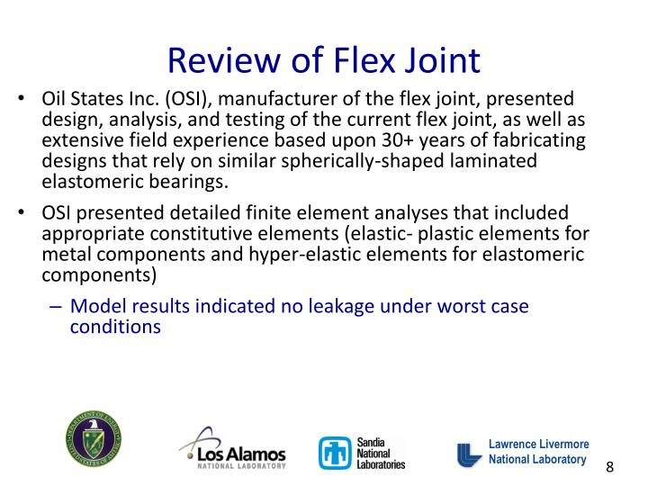 Review of Flex Joint