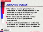 2009 price outlook