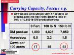 carrying capacity fescue e g