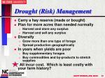 drought risk management