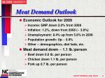 meat demand outlook