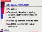 nc basis 1990 2000