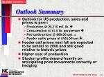 outlook summary