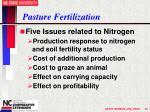 pasture fertilization