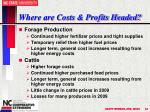 where are costs profits headed