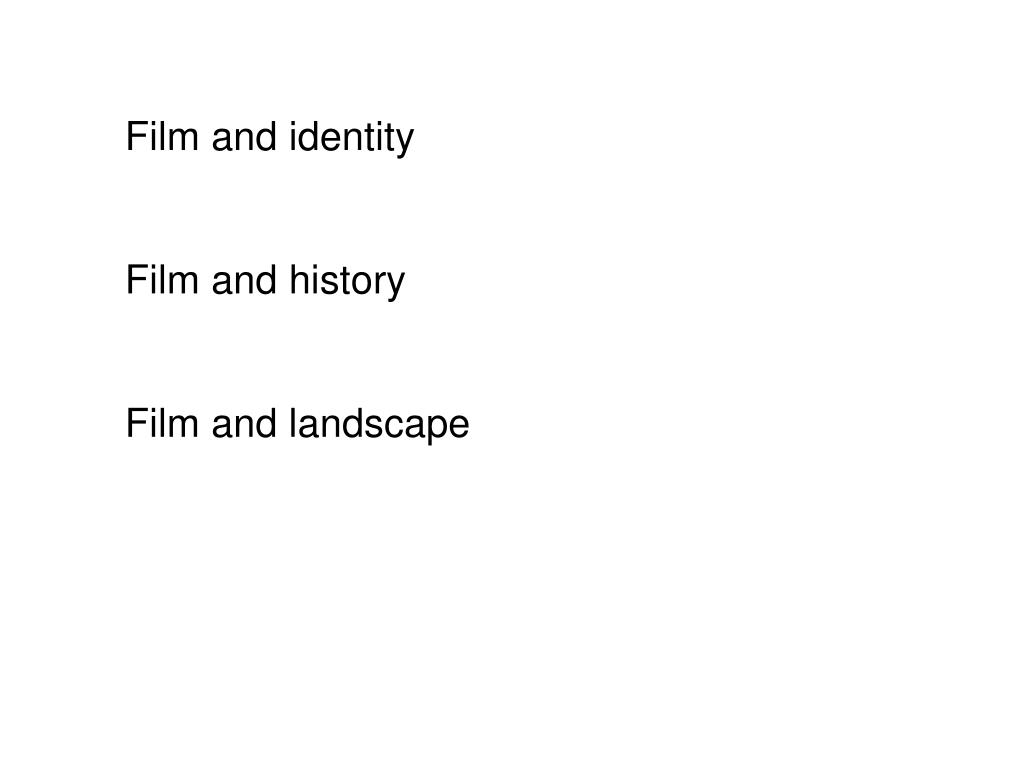 Film and identity