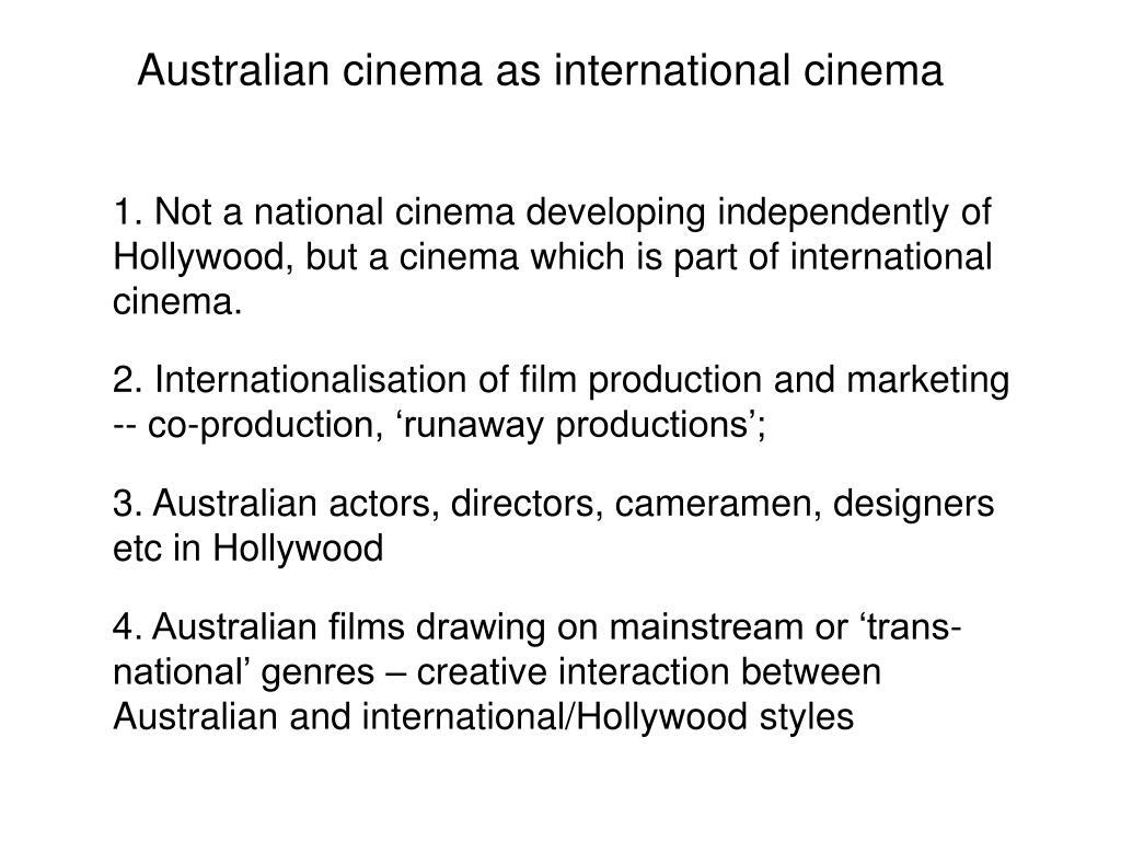 Australian cinema as international cinema
