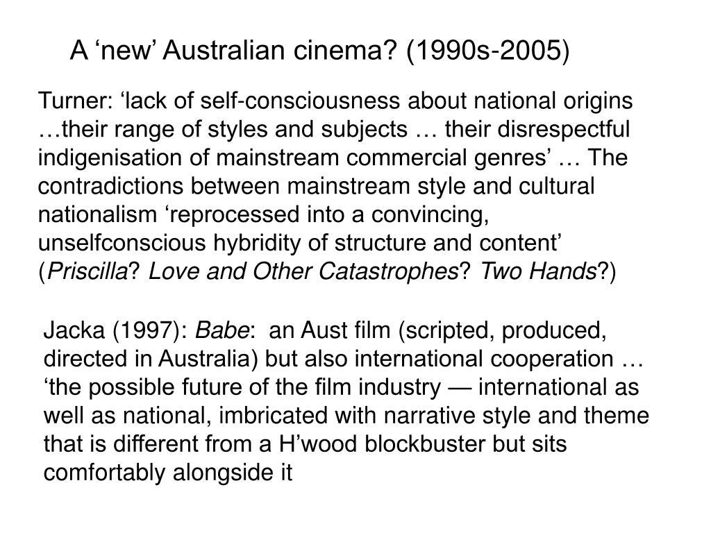 A 'new' Australian cinema? (1990s-2005)