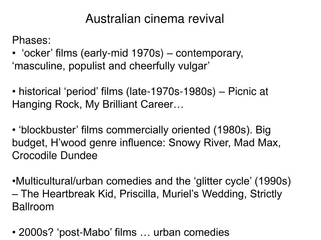 Australian cinema revival