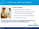 full service technical support